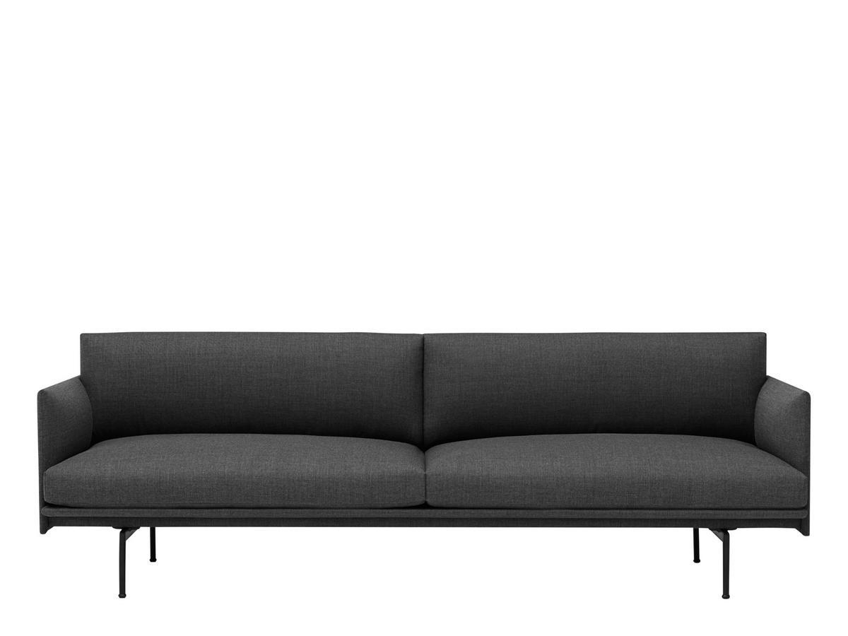 Muuto Rest Sofa : Muuto outline sofa dreisitzer stoff remix grey von anderssen