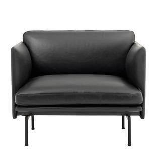 Outline Chair Leder schwarz