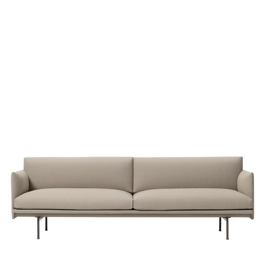 Muuto Outline Sofa Twill Edition Exklusiv Bei Smow Dreisitzer