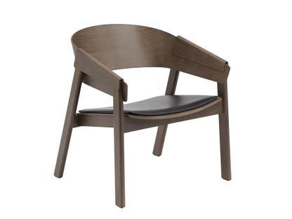 Cover Lounge Chair Dunkelbraun gebeizt/Leder schwarz
