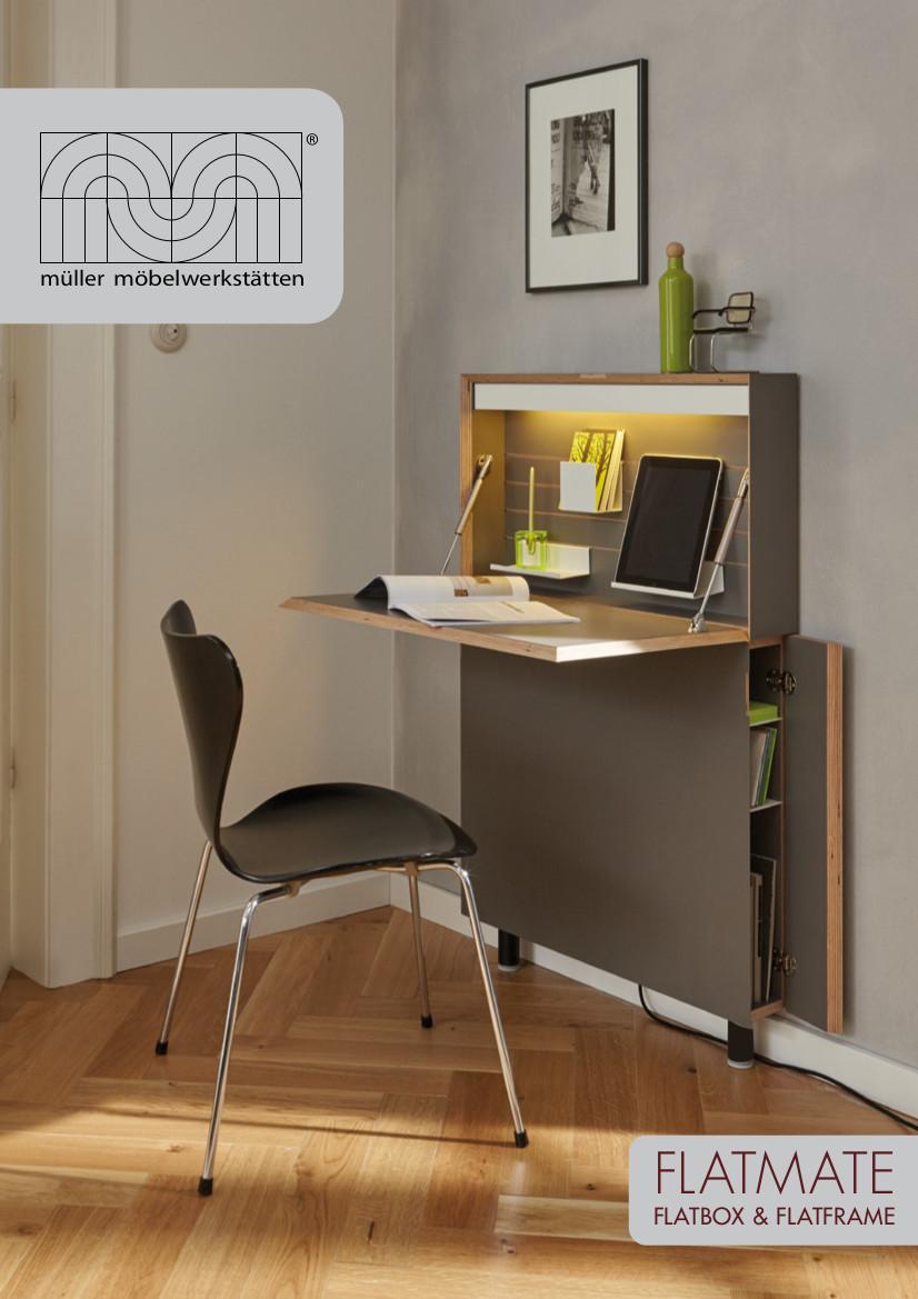 m ller m belwerkst tten flatframe wandsekret r von michael. Black Bedroom Furniture Sets. Home Design Ideas