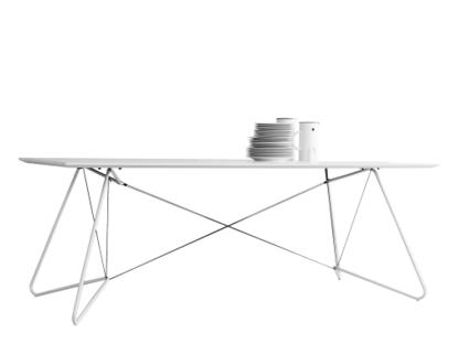 On A String Tisch L 170 x B 90 x H 72 cm|Laminat weiß