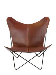Trifolium Butterfly Chair Cognac|Stahl, schwarz pulverbeschichtet