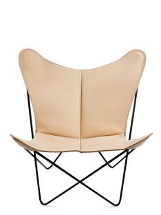 Trifolium Butterfly Chair Natur|Stahl, schwarz pulverbeschichtet