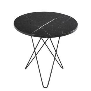Tall Mini O Table Schwarz Stahl, schwarz pulverbeschichtet
