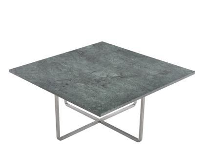 Ninety Table Groß (H 35 x B 80 x T 80 cm)|Grün Indio|Edelstahl