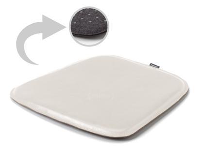 Sitzauflage Leder für Eames Armchairs Oberseite Leder / Unterseite Filz|Creme weiß