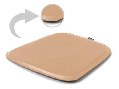 Sitzauflage Leder für Eames Armchairs Ober- und Unterseite Leder|Beige
