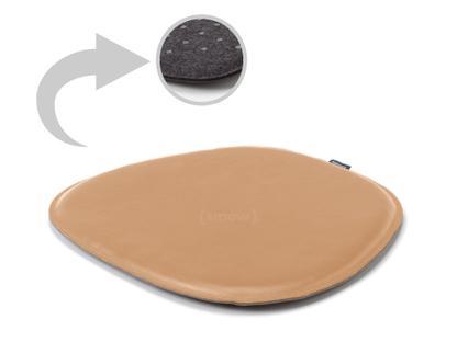 Sitzauflage Leder für Eames Side Chairs Oberseite Leder / Unterseite Filz|Beige
