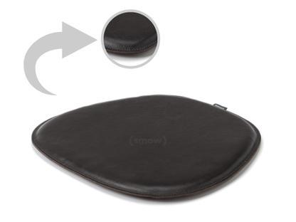 Sitzauflage Leder für Eames Side Chairs Ober- und Unterseite Leder Schwarz