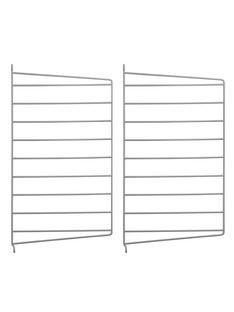 String System Wandleiter 2er Set|50 x 30 cm|Grau