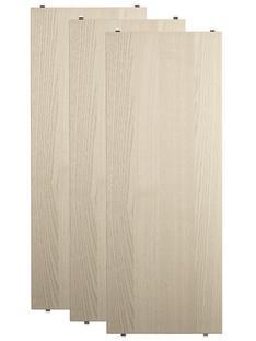 String System Regalböden (3er Pack) 78 x 30 cm|Eschefurnier