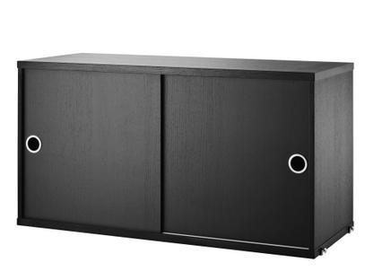 string system h ngeschrank mit schiebet ren eschefurnier schwarz 30 cm von nisse strinning. Black Bedroom Furniture Sets. Home Design Ideas