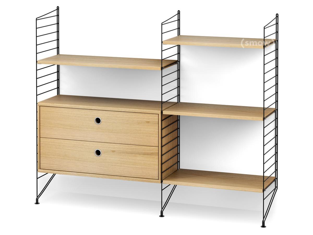 string system bodenregal mit schubladen von nisse. Black Bedroom Furniture Sets. Home Design Ideas
