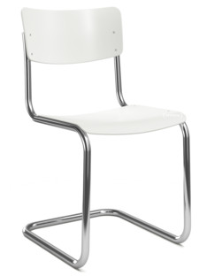 S 43 Klassik Gestell verchromt|Strukturlack|Reinweiß (RAL 9010)|Ohne Sitzauflage