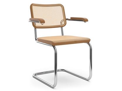 S 64 / S 64 N Rohrgeflecht (mit Stützgewebe unter Sitzfläche)|Buche gebeizt kirschbaumfarbig