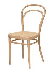 214 / 214 M ohne Armlehnen|Buche gebeizt natur|Rohrgeflecht (mit Stützgewebe unter Sitzfläche)