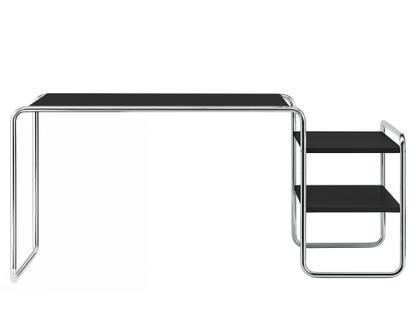 S 285/1 - S 285/2 Esche offenporig decklackiert tiefschwarz|2 Fachböden rechts außen