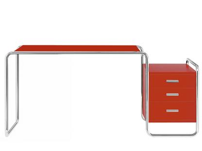 S 285/1 - S 285/2 Esche offenporig decklackiert tomatenrot|1 großer Korpus rechts außen