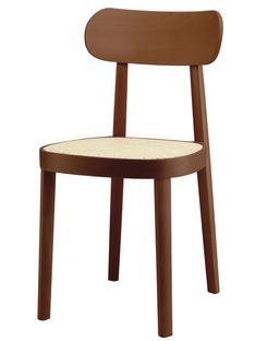 118 / 118 M Buche gebeizt nussbaumfarbig|Rohrgeflecht (mit Stützgewebe unter Sitzfläche)