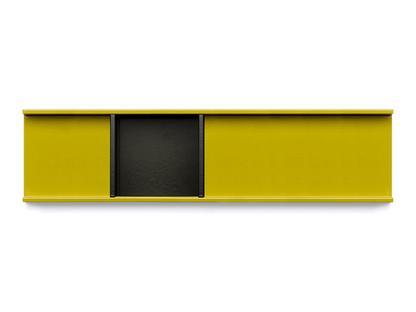 Meterware Ablageschale Niedrig (2,5 cm), currygelb Niedrig (1,9 cm), tiefschwarz