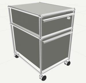 Rollcontainer designermöbel  USM Haller Rollcontainer mit Hängeregistratur, Alle Fächer mit ...
