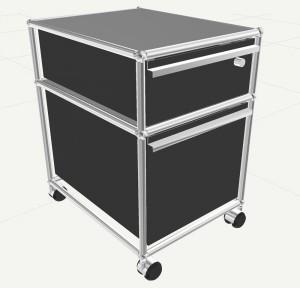 Rollcontainer designermöbel  USM Haller Rollcontainer mit Hängeregistratur, Kein Schloss ...