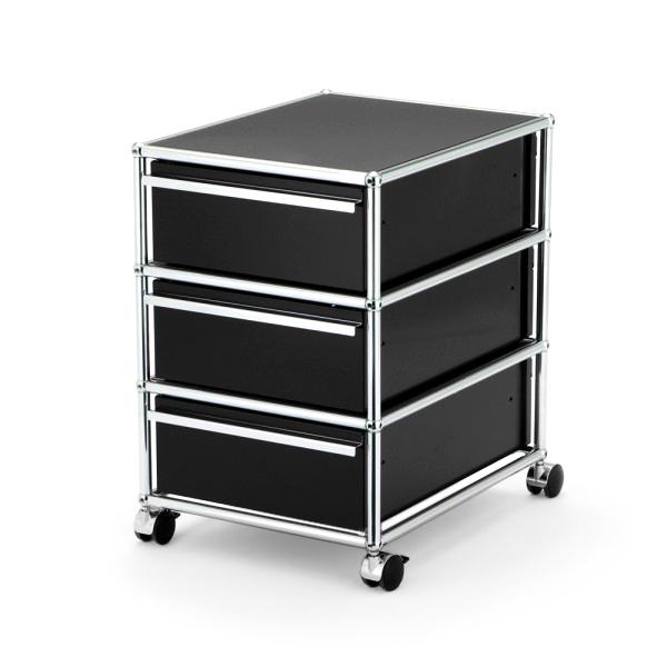 usm haller rollcontainer mit 3 schubladen von fritz haller paul sch rer designerm bel von. Black Bedroom Furniture Sets. Home Design Ideas