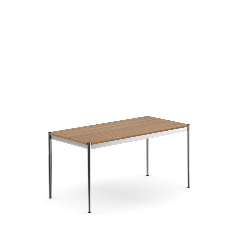 USM Haller Tisch, 45 x 45 cm, Holz, Eiche geölt braun von Fritz