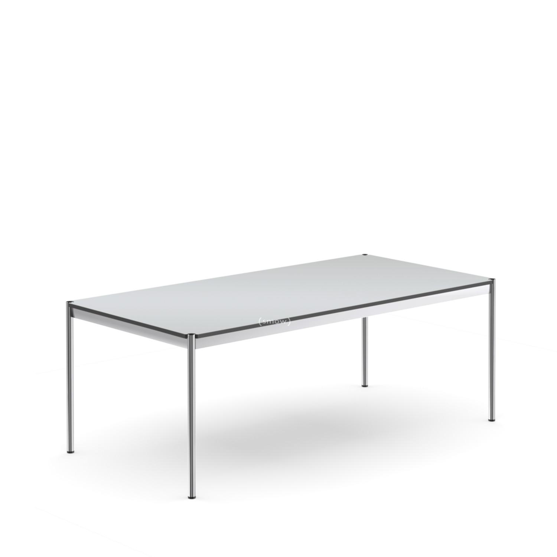 usm haller tisch 100 x 200 cm kunstharz perlgrau von fritz haller paul sch rer 1962. Black Bedroom Furniture Sets. Home Design Ideas