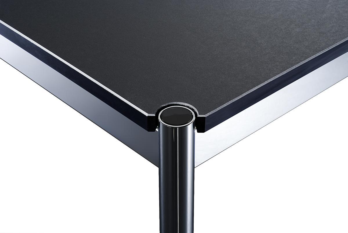 usm haller tisch 75 x 150 cm linoleum nero von fritz. Black Bedroom Furniture Sets. Home Design Ideas