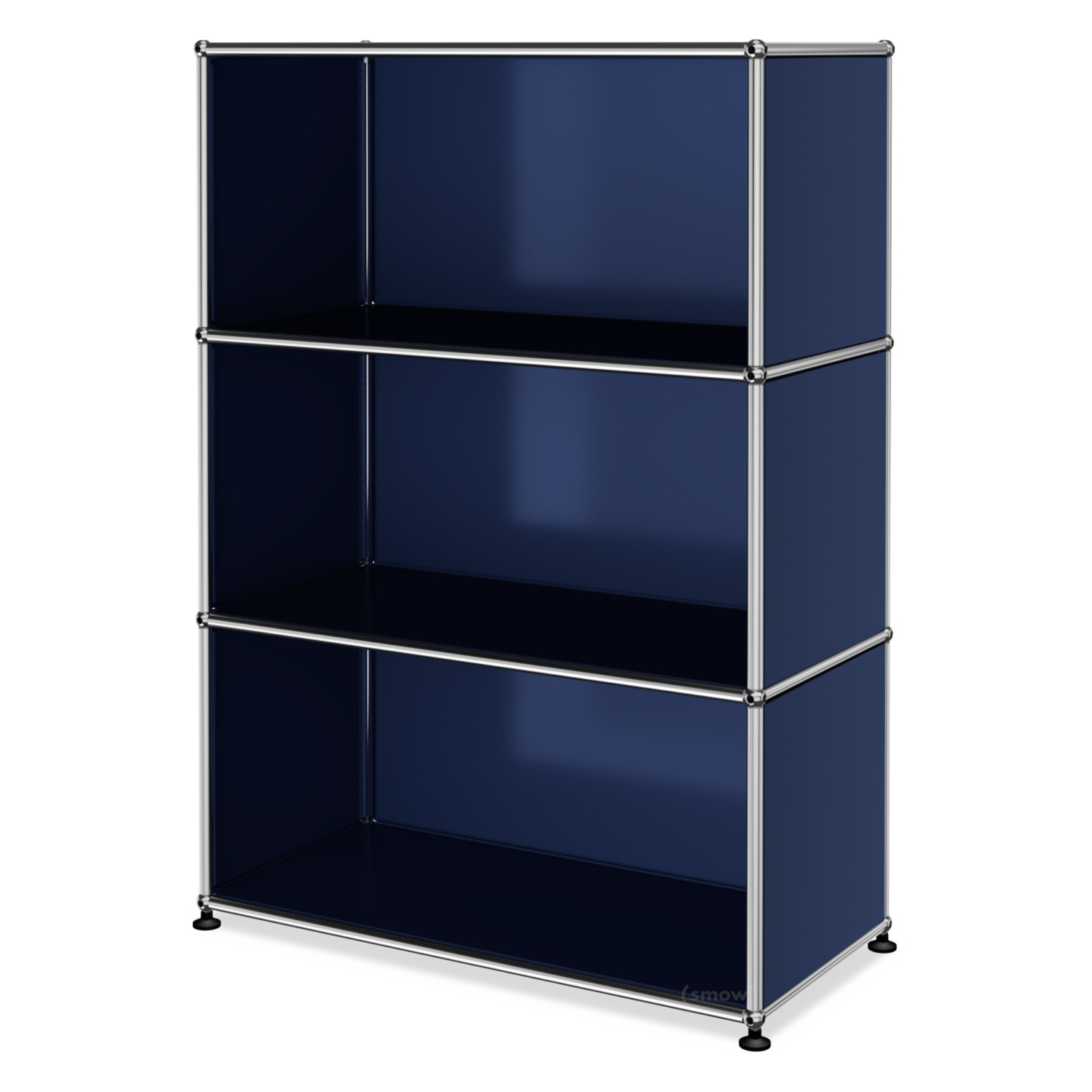 usm haller highboard m offen stahlblau ral 5011 von fritz haller paul sch rer designerm bel. Black Bedroom Furniture Sets. Home Design Ideas