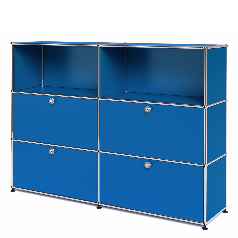 usm haller highboard l mit 4 klappen enzianblau ral 5010 von fritz haller paul sch rer. Black Bedroom Furniture Sets. Home Design Ideas