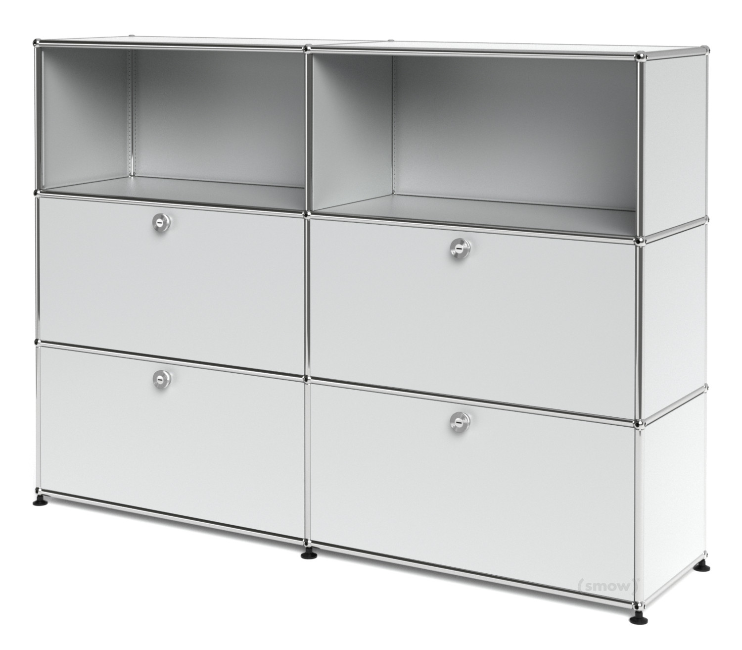 usm haller highboard l mit 4 klappen usm mattsilber von. Black Bedroom Furniture Sets. Home Design Ideas