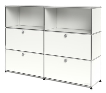 usm haller highboard l mit 4 klappen reinwei ral 9010. Black Bedroom Furniture Sets. Home Design Ideas