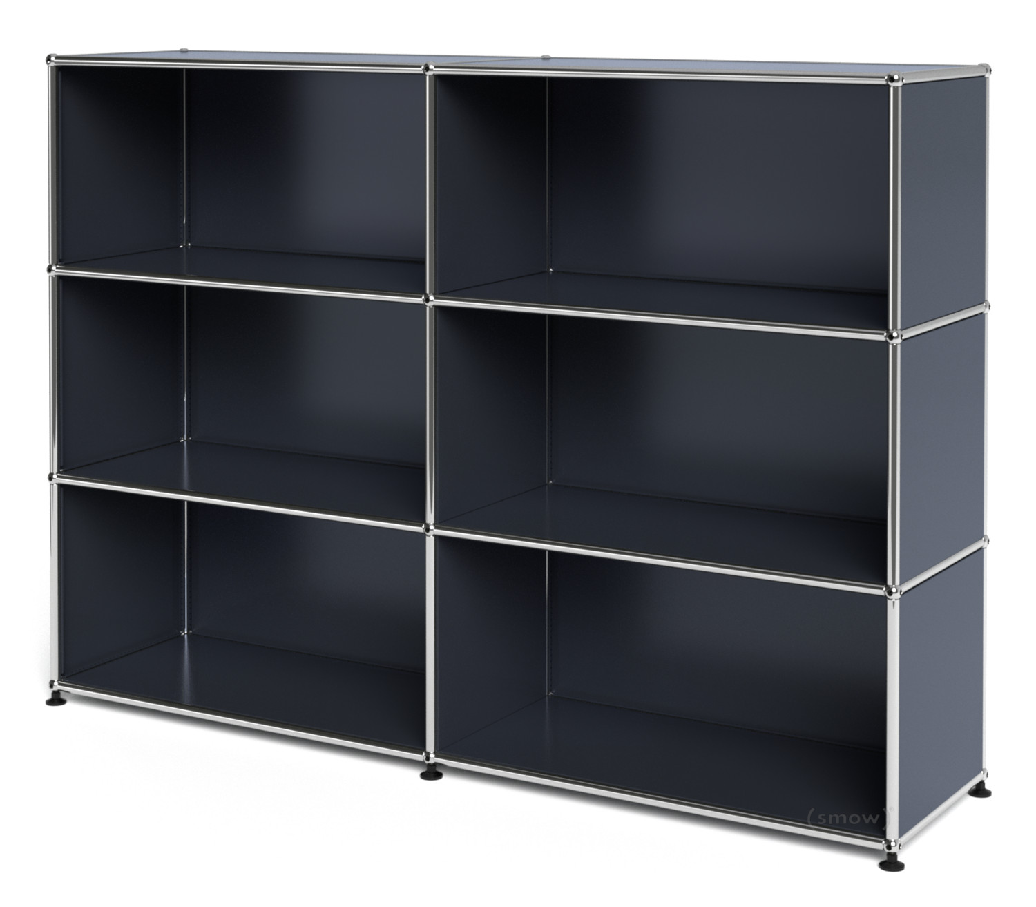 usm haller highboard l offen anthrazitgrau ral 7016 von. Black Bedroom Furniture Sets. Home Design Ideas