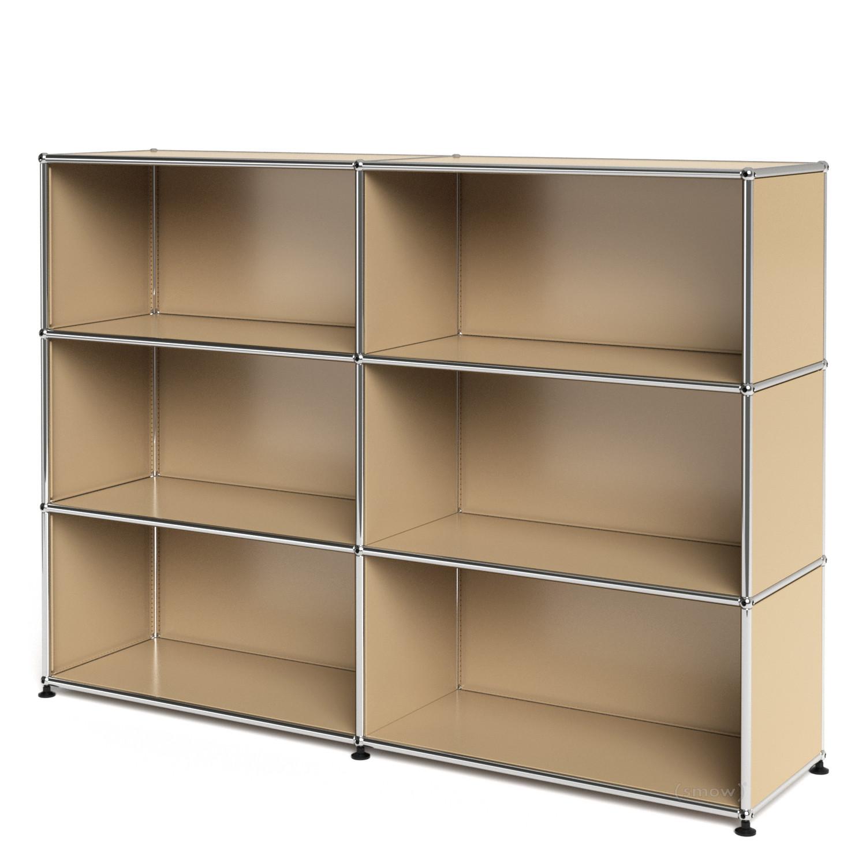 usm haller highboard l offen usm beige von fritz haller paul sch rer designerm bel von. Black Bedroom Furniture Sets. Home Design Ideas