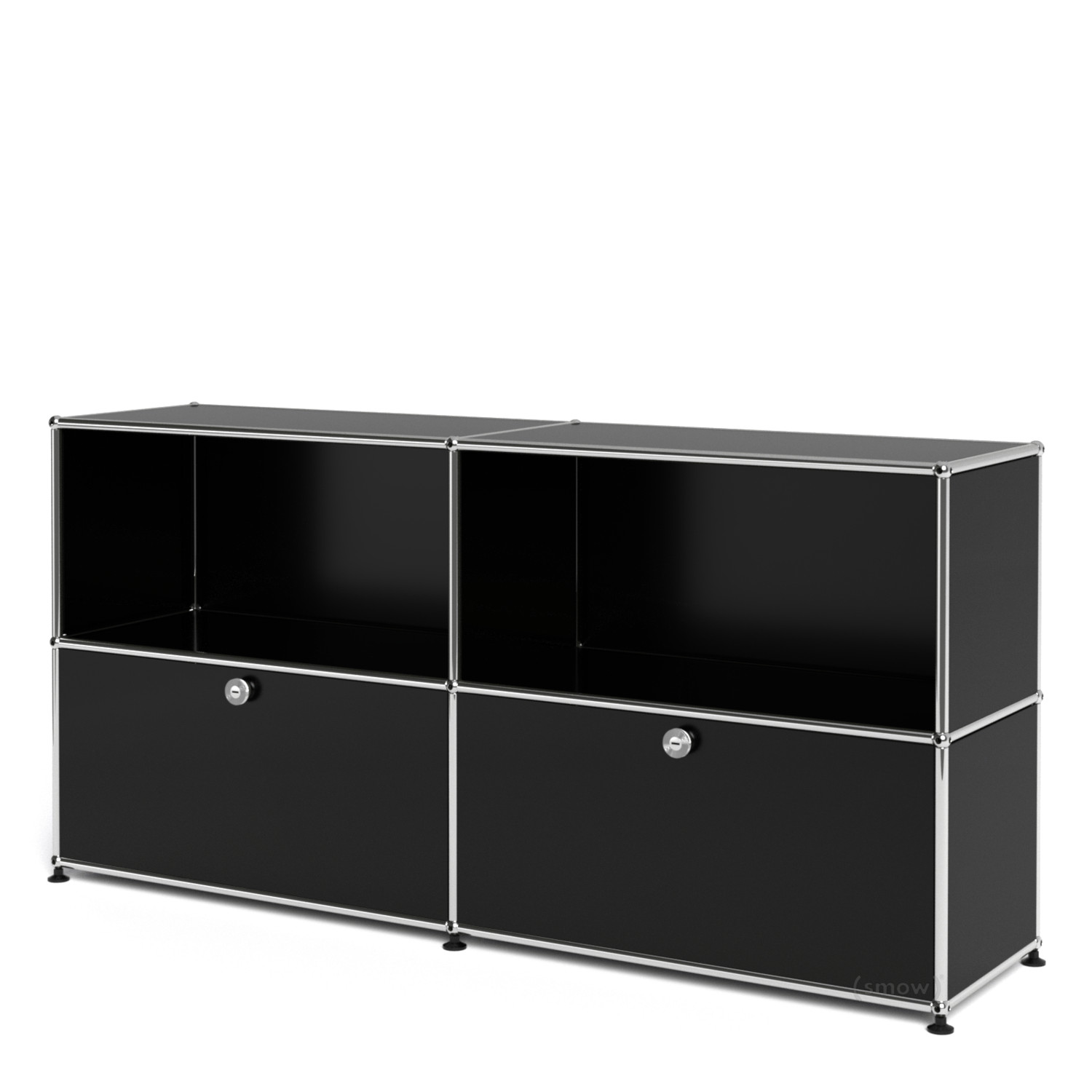 usm haller sideboard l mit 2 klappen von fritz haller. Black Bedroom Furniture Sets. Home Design Ideas