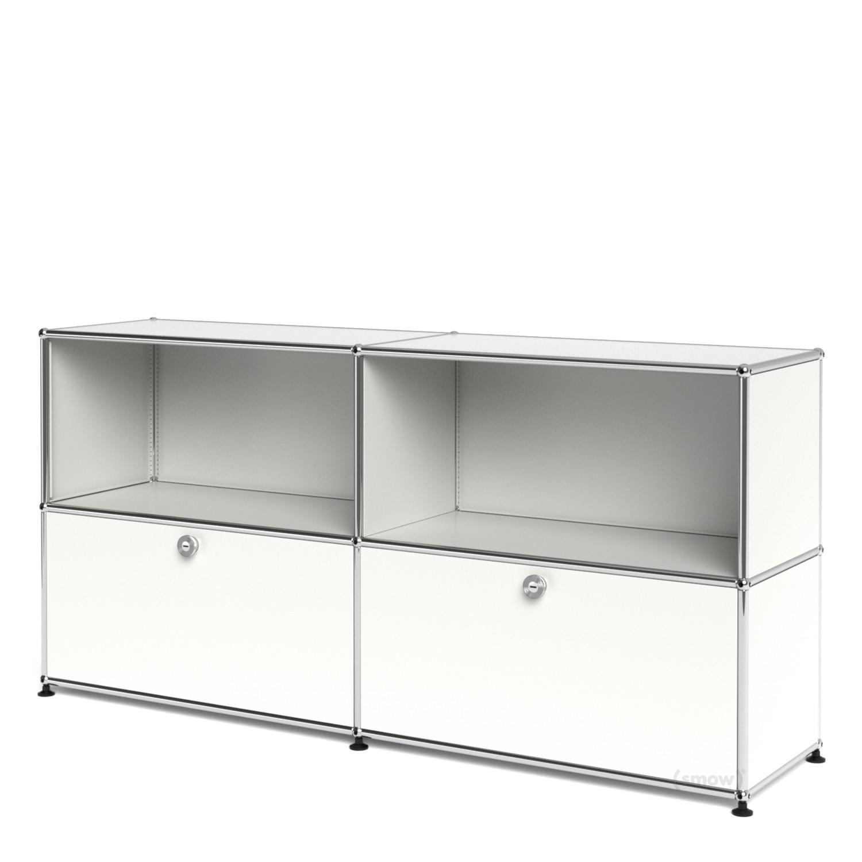 usm haller sideboard l mit 2 klappen reinwei ral 9010. Black Bedroom Furniture Sets. Home Design Ideas