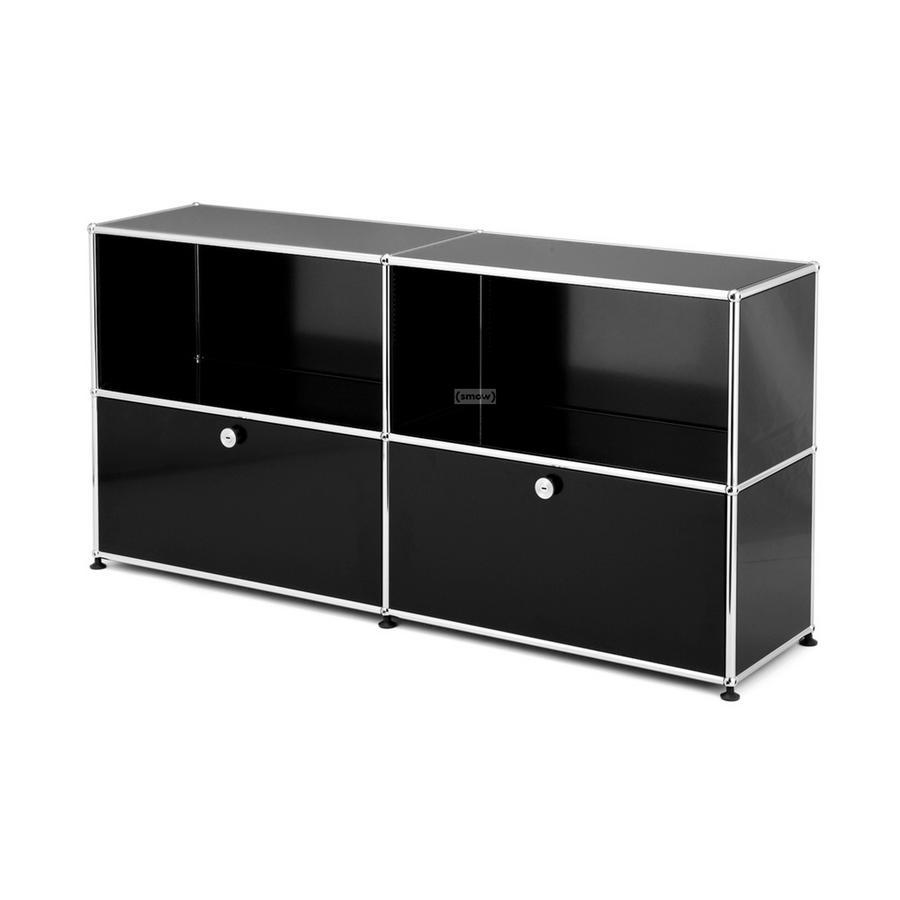 usm haller sideboard l mit 2 klappen von fritz haller. Black Bedroom Furniture Sets. Home Design Ideas