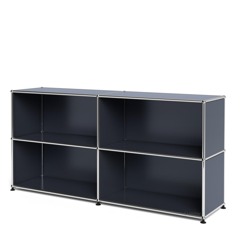 usm haller sideboard l offen anthrazitgrau ral 7016 von. Black Bedroom Furniture Sets. Home Design Ideas