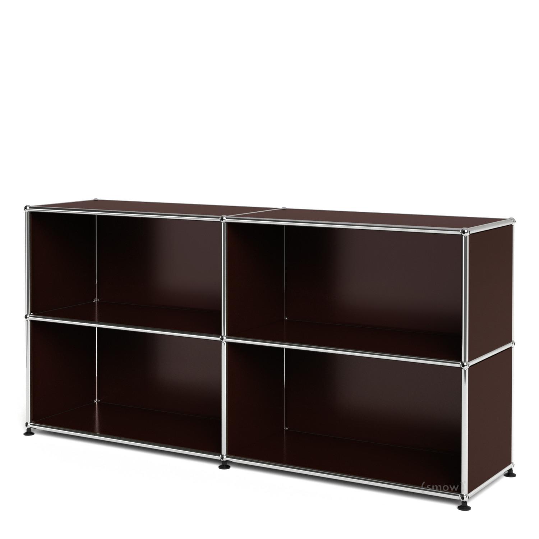 usm haller sideboard l offen usm braun von fritz haller. Black Bedroom Furniture Sets. Home Design Ideas