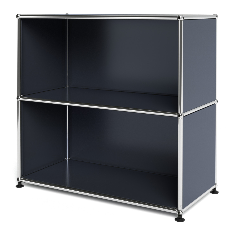 usm haller sideboard m offen anthrazitgrau ral 7016 von. Black Bedroom Furniture Sets. Home Design Ideas