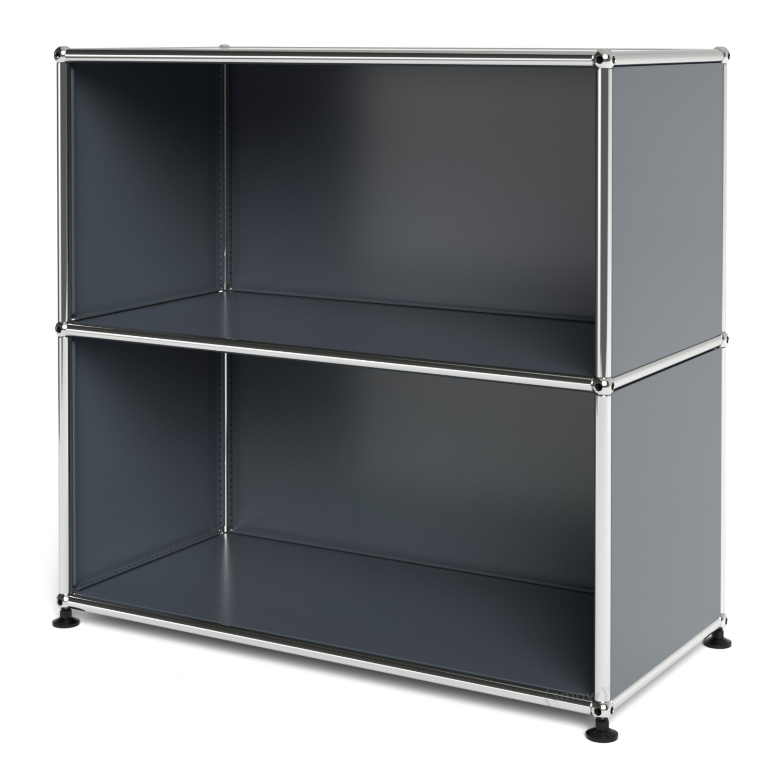 usm haller sideboard m offen mittelgrau ral 7005 von. Black Bedroom Furniture Sets. Home Design Ideas