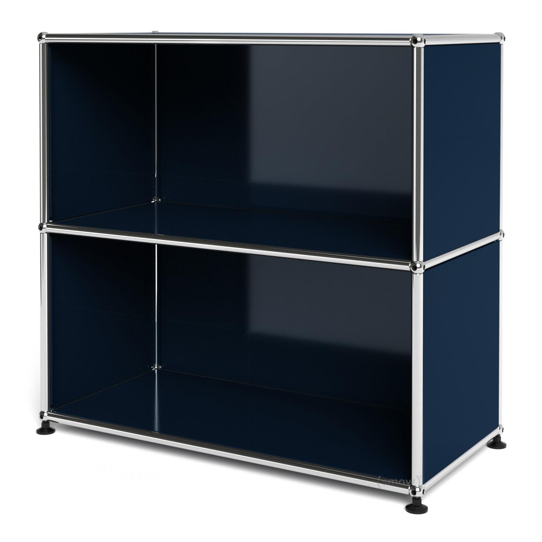 usm haller sideboard m offen stahlblau ral 5011 von fritz. Black Bedroom Furniture Sets. Home Design Ideas