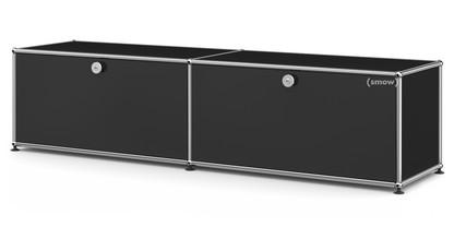 USM Haller Lowboard L mit 2 Klappen Graphitschwarz RAL 9011