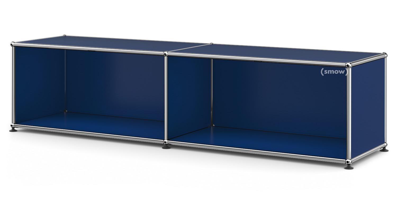 USM Haller Lowboard L offen, Stahlblau RAL 5011 von Fritz Haller ...