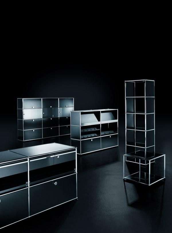 usm haller lowboard m open by fritz haller paul sch rer. Black Bedroom Furniture Sets. Home Design Ideas