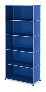 USM Haller Aktenregal M, individualisierbar Enzianblau RAL 5010|Offen|Offen|Offen|Offen
