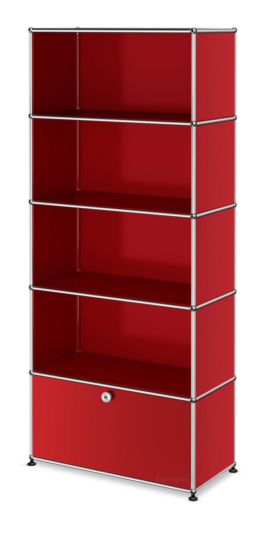 usm haller aktenregal m individualisierbar usm rubinrot offen offen offen mit auszug von. Black Bedroom Furniture Sets. Home Design Ideas